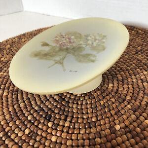 Vintage Cheri Blum Floral Oval Pedestal Soap Dish