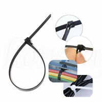 1~100x Reusable Recycling 8x450mm Nylon Plastic Cable Tie Zip Loop Self-Locking