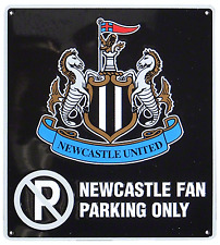 Oficial Newcastle United Utd Fc Fútbol Club No Parking Letrero metal 23CM X