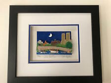 """John Suchy 3 D Artwork """" Bow Bridge Central Park """" Signed & Numbered Like Rizzi"""