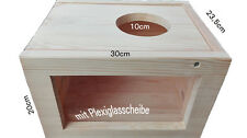 30cm Sand Badehaus für Chinchilla einer Speziellen Wanne am Abend mit Klappe NEU