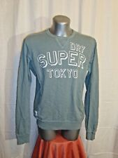 VTG men's SUPERDRY crew neck graphic sweatshirt top pullover sz L great cond