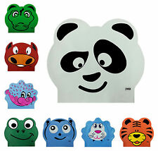 CHEX Latex Character Stretchy Kids Boys Girls Panda Crocodile Swimming Hat Cap