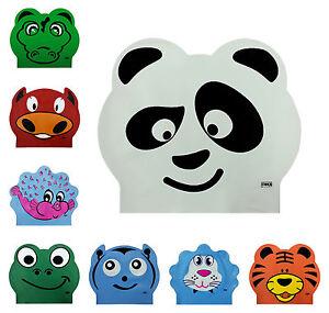 CHEX Latex Character Stretchy Kids Boys Girls Panda Crocodile Swimming Hat Cap