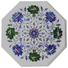 "12""x 12"" Marble Coffee Table Top Pietra dura​ Inlay Work"