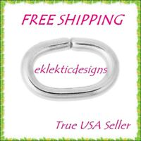 6x4mm 1mm 18ga 20pcs 304 Surgical Stainless Steel Oval Open Jump Rings FREE SHIP