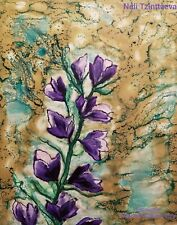Breath of Spring - Encaustic art -Neli Tzintzeva 8x10in