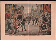 Parade Cortège Costumes d'Epoque Bruxelles Brussel Belgique 1905 ILLUSTRATION