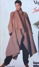 1980 Vogue Individualist Miyake Coat Jacket 1476 12 Sewing Pattern 34 B Retro