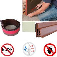 Under Door Bottom Strip Seal Weather Stripping Energy Saver Bugs Blocker Brown