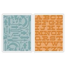 Sizzix Textured Embossing Folders 2PK - Arrows & Boardwalk Set 659489