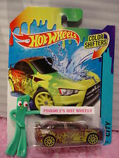 2015 Color Shifters '08 MITSUBISHI LANCER EVOLUTION evo∞Yellow 10sp ∞Hot Wheels