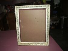 vintage gold on white metal picture frame 13 x 16