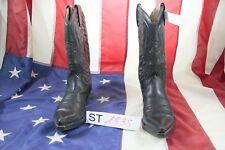 Stiefel BUFFALO cod. ST1838 gebraucht n.40 Frau Haut schwarze Cowboy bikers
