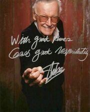 Stan Lee Spider Man Vintage Signed 8x10 Photo (RP)