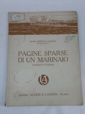 PAGINE SPARSE DI UN MARINAIO Gabbani libro 1918 Marina militare