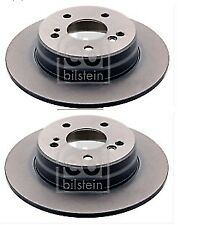 FOR MERCEDES C CLASS E CLASS SLK REAR FEBI BILSTEIN BRAKE DISC PAIR