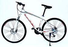 """Fahrrad 26"""" Herren Mountainbike Shimano 27-Gang mit Scheibenbremsen Bike weiß"""