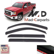 Window Visor Shade Sun Guard For 14-18 Chevrolet Silverado 1500 Extended Cab