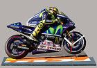 VALENTINO ROSSI, YAMAHA MOTO GP-08, MODELLINI DI MOTO MINIATURA IN DELL'OROLOGIO