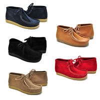 Peppergate Wallabee Shoes Moc Toe suede Navy Red Natural Black