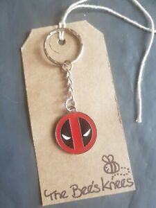 Deadpool Wade  Wilson enamel charm handmade earrings silver keyring UK Seller