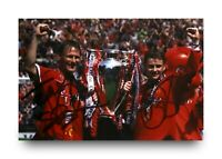 Sheringham & Solskjaer Signed 6x4 Photo Manchester United Genuine Autograph +COA