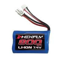 Redcat Racing  HEXFLY 800 mAh 7.4V Li-ion Battery  Tamiya Volcano-18 V2  28021T