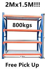 2Mx1.5M!! Garage Warehouse Metal Steel Storage Shelving Shelves Racking Racks