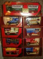 JOB LOT Matchbox Yesteryear x 9  TRUCKS STEAM WAGONS vans RED boxes