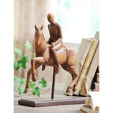 Antique Vintage Equestrian Galloping Horse & Rider Statue Sculpture Ornament