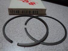 1975-80 SUZUKI RM125 RM 125 PISTON RING SET 0.75 NOS OEM P/N 12140-41310-075