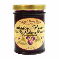 Shadow River Wild Huckleberry Gourmet Preserves No Added Refined Sugar 9 oz Jam