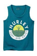 Hurley Big Boys Sleeveless XL Tank Top T-Shirt Tee Green Surf and Enjoy NWT
