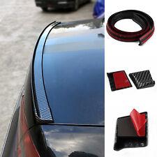 4.9ft Universal Carbon Fiber PU Car Rear Roof Trunk Spoiler Wing Lip Sticker UK
