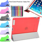 Translucent Crystal Front & Back Smart Stand Cover Case for Apple iPad 4 3 2