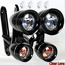 Fairing Mounted Driving Lights Turn Signals For Harley FLH/T FLHR FLHX 96-13