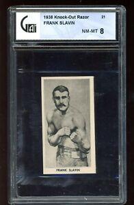 1938 Knock-Out Razor  #21 Frank Slavin GA 8