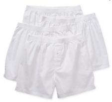 Stafford Men's 4-Pack 100% Cotton Woven Boxer Shorts White XL