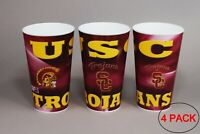 University of Southern California TROJANS Plastic Cup 22oz - (PACK OF 4)