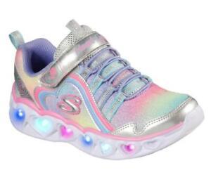 Twinkle Toes SKECHERS Girls: S Lights: GLIMMER KICKS - HEART LIGHTS - Light up