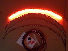 4pc RED WHEEL WELL CUSTOM LED UNDER BODY, FENDER,INTERIOR or GOLF CART LIGHT KIT