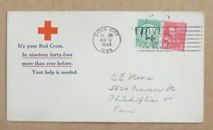 """COVER  CACHET WWII  """" YOUR HELP IS NEEDED """"RED CROSS""""   w/SLOGAN  See Pic"""