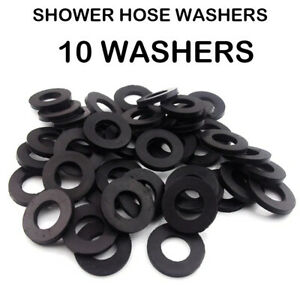 10X  Pack Shower Hose Washers Suitable for Shower Head hoses 1/2 Rubber Washers