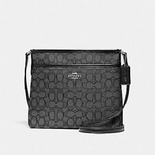 New Authentic Coach F29960 File Bag Messenger Crossbody Bag Purse Handbag Black