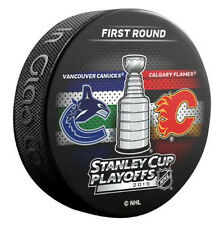NHL 2015 Stanley Cup Playoffs Vancouver Canucks VS Calgary Flames Dueling Puck