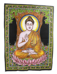 Batik With Strass Of Buddha Blackburn Hanging 105 X 75 CM Peterandclo 854 S6