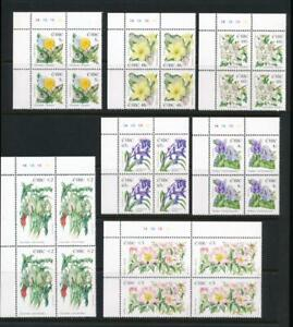 IRELAND 1563-1569 MNH 2004 FLOWERS, PLATE BLOCK 1