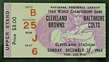 1964 Cleveland Browns vs Baltimore Colts NFL Championship Game Ticket Stub