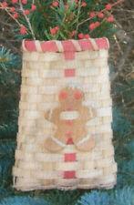 Basket Weaving Pattern Gingerbread Boy by Maurine Joy